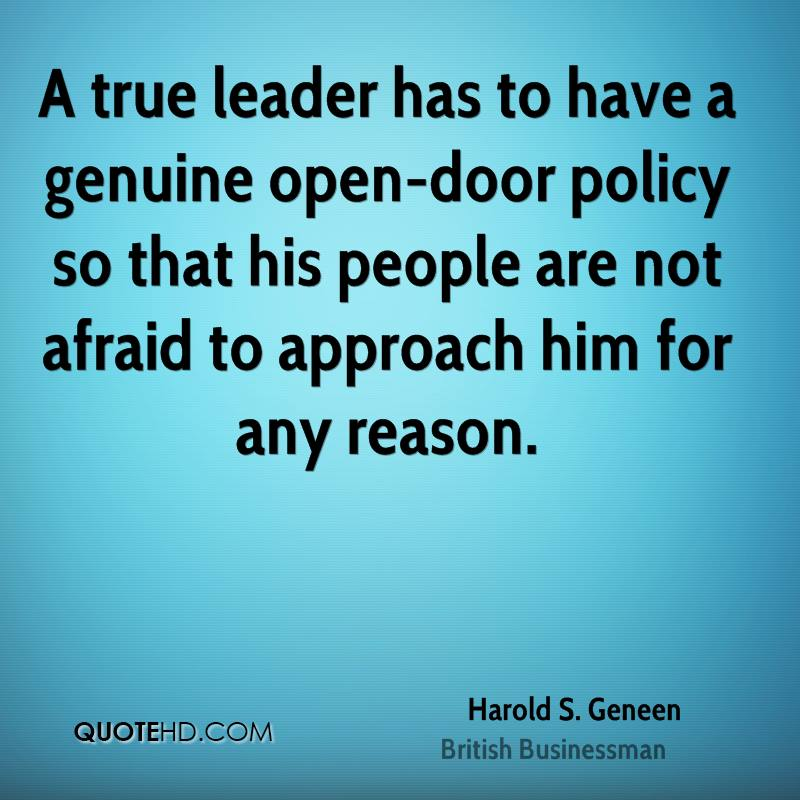 Harold S Geneen Quotes QuoteHD Mesmerizing Open Door Quotes