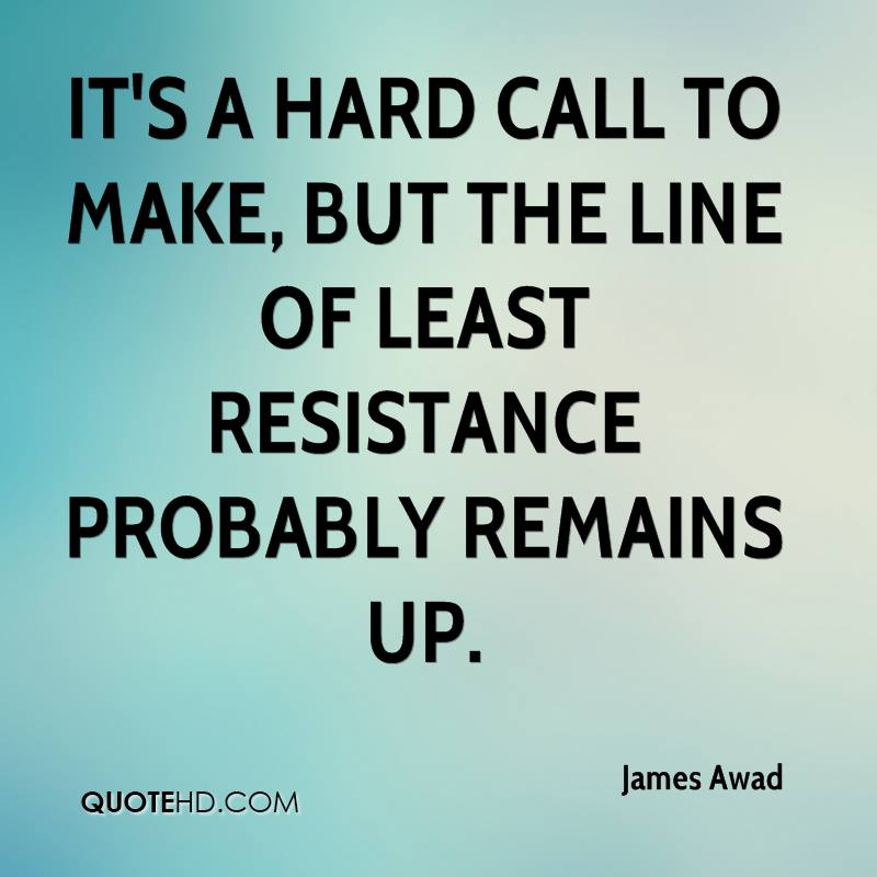 It's a hard call to make, but the line of least resistance probably remains up.