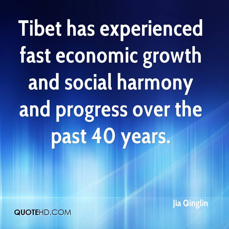 Tibet has experienced fast economic growth and social harmony and progress over the past 40 years.