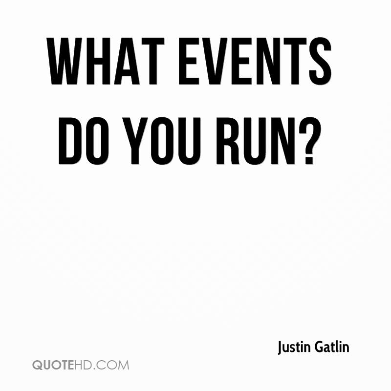 What events do you run?