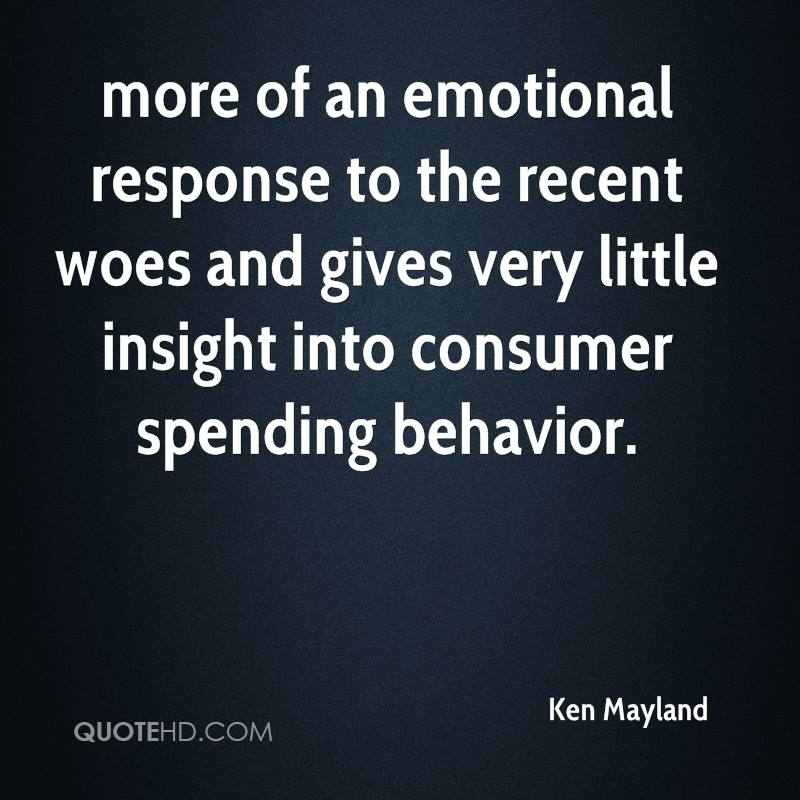 more of an emotional response to the recent woes and gives very little insight into consumer spending behavior.