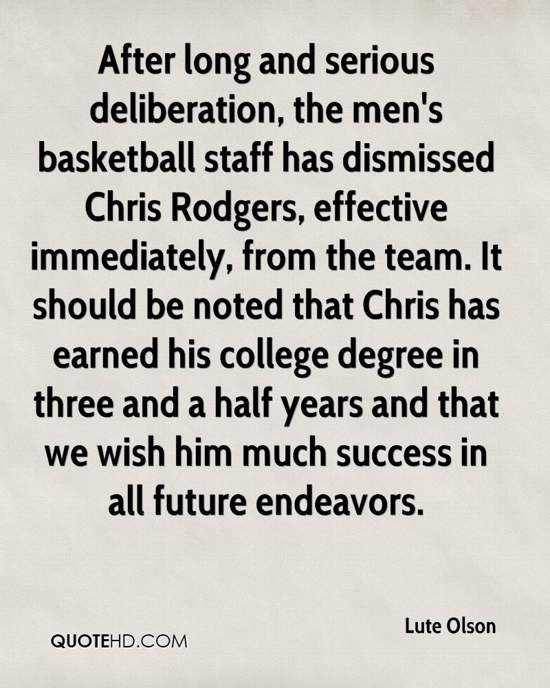 Serious Quotes Lute Olson Quotes  Quotehd