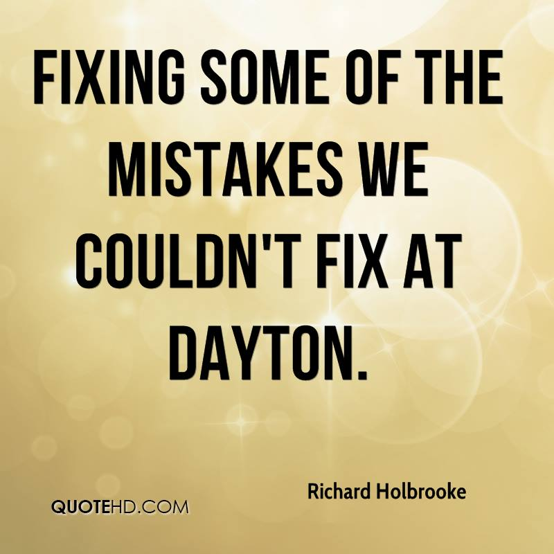 fixing some of the mistakes we couldn't fix at Dayton.