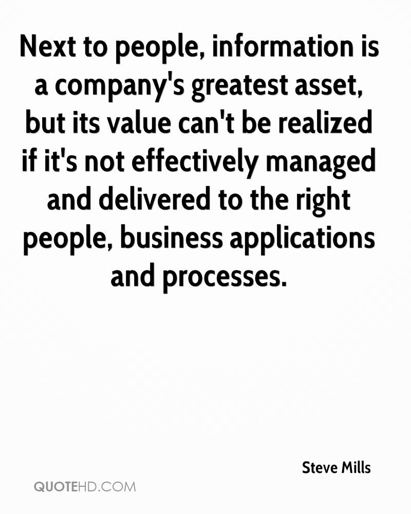 Next to people, information is a company's greatest asset, but its value can't be realized if it's not effectively managed and delivered to the right people, business applications and processes.