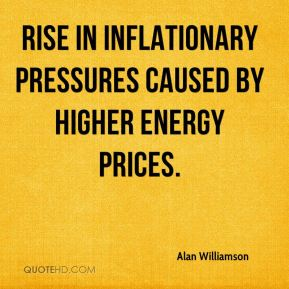 rise in inflationary pressures caused by higher energy prices.