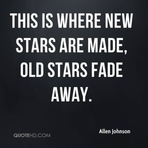 This is where new stars are made, old stars fade away.