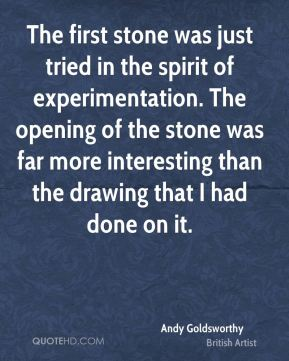 The first stone was just tried in the spirit of experimentation. The opening of the stone was far more interesting than the drawing that I had done on it.