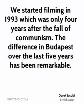 We started filming in 1993 which was only four years after the fall of communism. The difference in Budapest over the last five years has been remarkable.