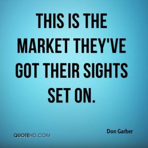 Don Garber - This is the market they've got their sights set on.