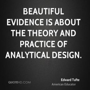 Edward Tufte - Beautiful Evidence is about the theory and practice of analytical design.