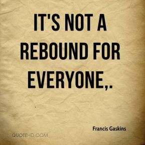 It's not a rebound for everyone.