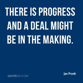 There is progress and a deal might be in the making.