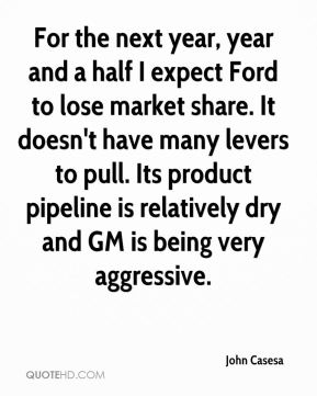 For the next year, year and a half I expect Ford to lose market share. It doesn't have many levers to pull. Its product pipeline is relatively dry and GM is being very aggressive.