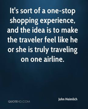 It's sort of a one-stop shopping experience, and the idea is to make the traveler feel like he or she is truly traveling on one airline.