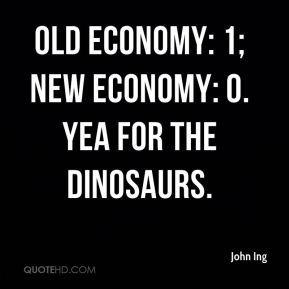 Old economy: 1; new economy: 0. Yea for the dinosaurs.
