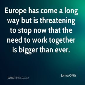 Europe has come a long way but is threatening to stop now that the need to work together is bigger than ever.