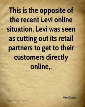 This is the opposite of the recent Levi online situation. Levi was seen as cutting out its retail partners to get to their customers directly online.