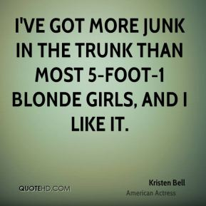 I've got more junk in the trunk than most 5-foot-1 blonde girls, and I like it.