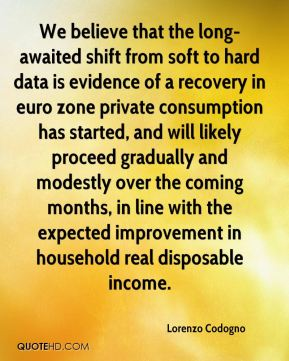 We believe that the long-awaited shift from soft to hard data is evidence of a recovery in euro zone private consumption has started, and will likely proceed gradually and modestly over the coming months, in line with the expected improvement in household real disposable income.