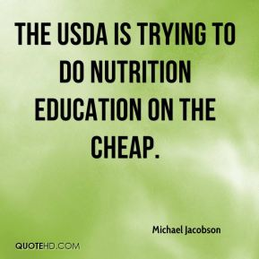 The USDA is trying to do nutrition education on the cheap.