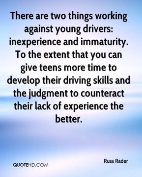 There are two things working against young drivers: inexperience and immaturity. To the extent that you can give teens more time to develop their driving skills and the judgment to counteract their lack of experience the better.