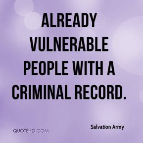 already vulnerable people with a criminal record.
