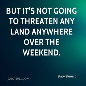 But it's not going to threaten any land anywhere over the weekend.