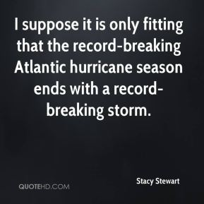 I suppose it is only fitting that the record-breaking Atlantic hurricane season ends with a record-breaking storm.