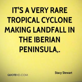 It's a very rare tropical cyclone making landfall in the Iberian Peninsula.