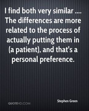 Stephen Green  - I find both very similar .... The differences are more related to the process of actually putting them in (a patient), and that's a personal preference.