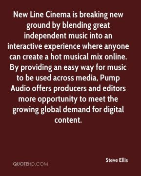 New Line Cinema is breaking new ground by blending great independent music into an interactive experience where anyone can create a hot musical mix online. By providing an easy way for music to be used across media, Pump Audio offers producers and editors more opportunity to meet the growing global demand for digital content.