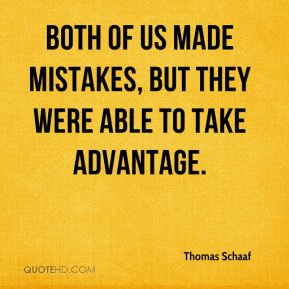 Thomas Schaaf  - Both of us made mistakes, but they were able to take advantage.