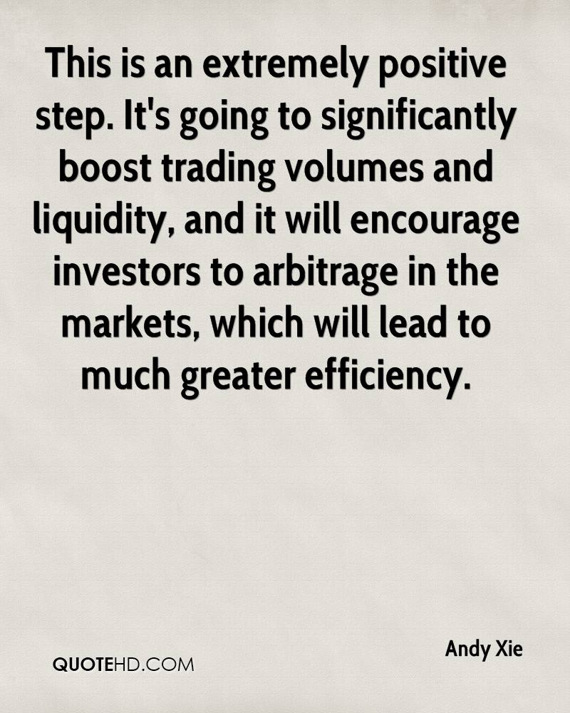 This is an extremely positive step. It's going to significantly boost trading volumes and liquidity, and it will encourage investors to arbitrage in the markets, which will lead to much greater efficiency.