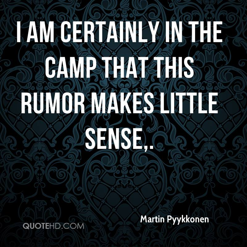 I am certainly in the camp that this rumor makes little sense.