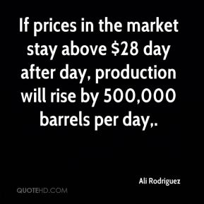 If prices in the market stay above $28 day after day, production will rise by 500,000 barrels per day.