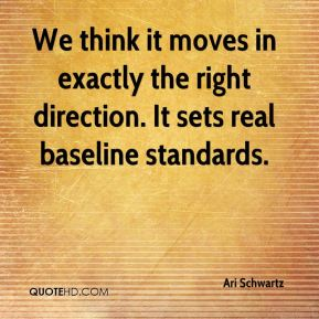 We think it moves in exactly the right direction. It sets real baseline standards.