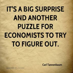 It's a big surprise and another puzzle for economists to try to figure out.