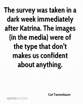 The survey was taken in a dark week immediately after Katrina. The images (in the media) were of the type that don't makes us confident about anything.