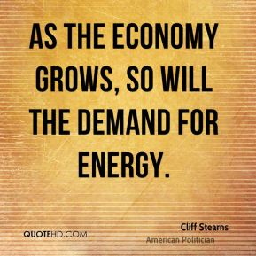 As the economy grows, so will the demand for energy.