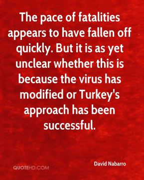 The pace of fatalities appears to have fallen off quickly. But it is as yet unclear whether this is because the virus has modified or Turkey's approach has been successful.