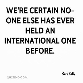 We're certain no-one else has ever held an international one before.