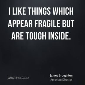 I like things which appear fragile but are tough inside.