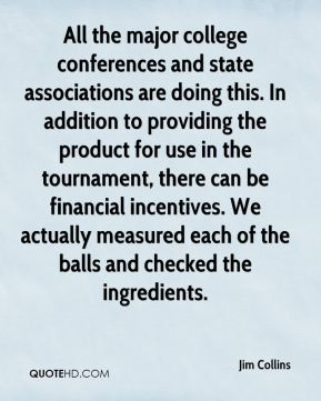 All the major college conferences and state associations are doing this. In addition to providing the product for use in the tournament, there can be financial incentives. We actually measured each of the balls and checked the ingredients.