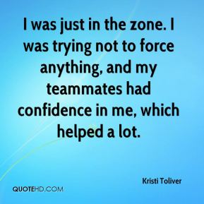 I was just in the zone. I was trying not to force anything, and my teammates had confidence in me, which helped a lot.