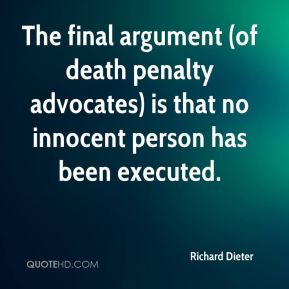 an argument that the death penalty is irrational