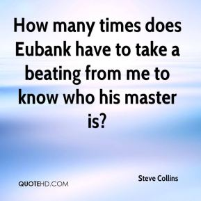 How many times does Eubank have to take a beating from me to know who his master is?