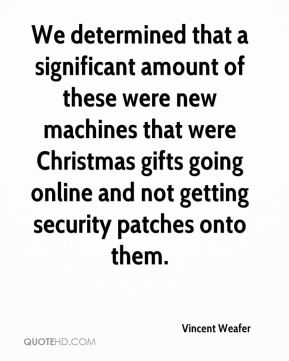 We determined that a significant amount of these were new machines that were Christmas gifts going online and not getting security patches onto them.