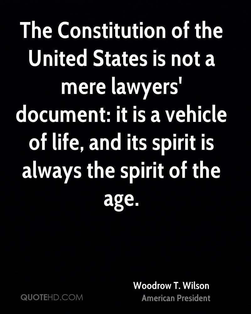 The Constitution of the United States is not a mere lawyers' document: it is a vehicle of life, and its spirit is always the spirit of the age.