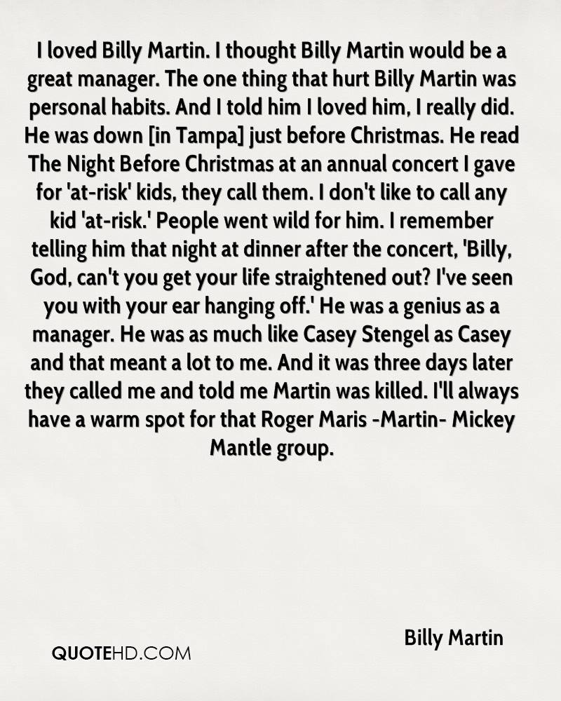 billy martin christmas quotes