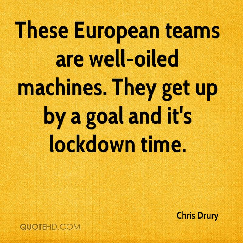 These European teams are well-oiled machines. They get up by a goal and it's lockdown time.